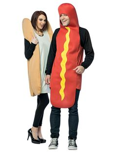 The Hot Dog Bun Couples Costume is the best 2019 Halloween costume for you to get! Everyone will love this Mens costume that you picked up from Wholesale Halloween Costumes! Large Dog Costumes, Unique Couple Halloween Costumes, Couples Costumes Adult, Hallowen Costume, Halloween Fancy Dress, Halloween Kostüm, Funny Halloween Costumes, Diy Costumes, Costume Ideas