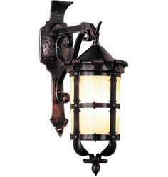 Old World Inspired Hand Formed Br Lantern Solid Outdoor Sconcesoutdoor Lightinglighting
