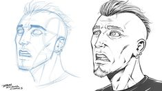 Drawing a Fearful Facial Expression by robertmarzullo Drawing Expressions, Facial Expressions, Comic Drawing, Art Studies, Drawing Techniques, Art Tips, Drawing Reference, Character Design, Comic Books
