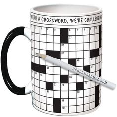 Crossword Puzzle Mug from The Unemployed Philosophers Guild