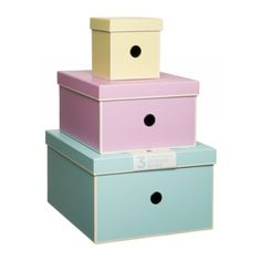Sorbet Pastel Nested Storage Boxes (Pack of 3) | WHSmith ❤ liked on Polyvore featuring home, home decor, small item storage, pastel home decor and pastel storage box