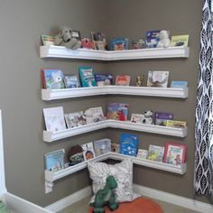Ease-trough book nook