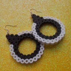 Earrings perler beads by clementinainventa