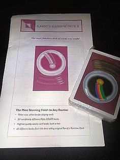 Randy Wakeman Rainbow Deck II Fabulous Deck of Cards Collectibles:Fantasy, Mythical & Magic:Magic:Tricks www.webrummage.com $24.99