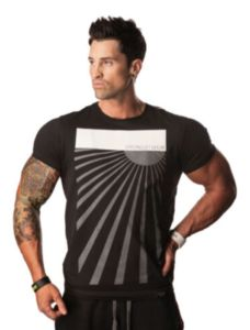 Sol Tee - Cooltech Our tees are uniquely dsigned for lifters, designed to accentuate muscularity and physique taper. You wont find any other active wear tees with this cut!Men's T-shirts Bodybuilding T Shirts, Funny Graphic Tees, Gym Wear, Workout Wear, Mens Tees, Street Style Women, How To Wear, Fitness Clothing, Fitness Outfits