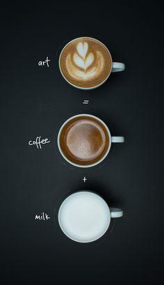 makes a better Coffee Coffee Milk, Best Coffee, Latte Art, Tea, Chocolate, Tableware, How To Make, Food, Latte