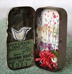 Viv of Hen's Teeth - love the idea of little hand-sewn surprise in a box...