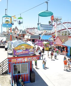 Santa Cruz Boardwalk. Me and my best friend used to go here about once a month in the summers. This is where The Lost Boys was filmed. :)