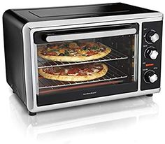 Amazing offer on Hamilton Beach Countertop Convection Oven Rotisserie, Bake Pans & Broiler Rack, Extra-Large Capacity, Black online - Topselectsclothing Countertop Convection Oven, Cooking Pumpkin, Hamilton Beach, Oven Recipes, Baking Pans, The Dish, Meals For One, Food Preparation, Countertops