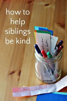 """Use a """"tip jar"""" to help siblings get along. Such a clever technique to reinforce kindness and prevent sibling rivalry!"""