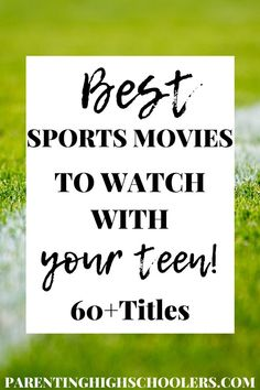 Right now movies are the only way we can enjoy sports right now other than replays of former games. Here are the best sports movies for teens to enjoy. Raising Teenagers, Parenting Teenagers, Parenting Advice, The Bad News Bears, Old And Teen, Play Soccer, Newborn Care, Tween, Teen Boys