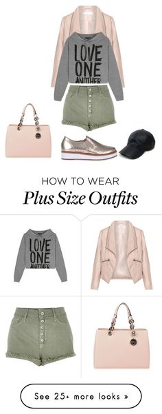 """Shopping session.."" by sweet-fashionista on Polyvore featuring Zizzi, River Island, MICHAEL Michael Kors and Vianel"
