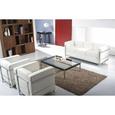 Le Corbusier LC2 Petite 3 Seater Sofa | The Natural Furniture Company Ltd