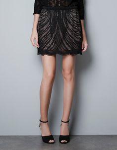 Lace Skirt by Zara
