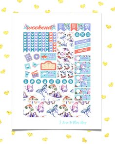 50% OFF SALE/ BUTTERFLIES Printable Planner Stickers for use