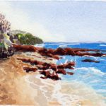 #worldwatercolormonth July 20 Ricketts Point Karen Smith