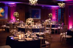 our reception at The Center Club, Costa Mesa. Pinks and navy hues, with ivory and white flowers.. sprinkled with sparkle! <3