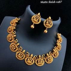 Temple Jewellery available at AnkhJewels for booking WhatsApp on Antique Jewellery Designs, Gold Jewellery Design, Handmade Jewellery, Gold Wedding Jewelry, Bridal Jewelry, Gold Jewelry, India Jewelry, Gold Necklaces, Jewelry Art