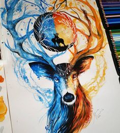 Fabulous Watercolor Pencils works by Finland Artist Jonna Scandy Girl - https://instagram.com/scandy_girl/