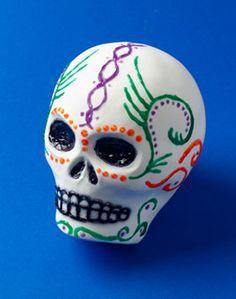 Clay Replicas of Sugar Skulls
