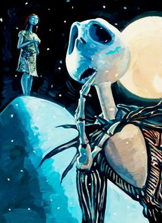 Jack Skellington and Sally - The Nightmare Before Christmas