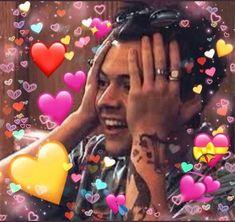 Super Ideas For Memes Reaction One Direction Harry, One Direction Humor, Memes Br, New Memes, Harry Styles Memes, Heart Meme, Harry 1d, Cute Love Memes, Mr Style
