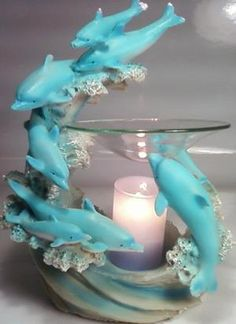 Dolphin Polyresin Electric Oil Warmer Offered by on Bonanza Electric Oil Warmer, Dolphins Tattoo, Dolphin Art, Beach House Decor, Beach Themes, Decoration, Glass Art, Diy And Crafts, Beautiful Pictures