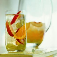 Cool down on a warm afternoon with a glass of cold, white sangria filled with your favorite fruits. The best part about this drink is that the longer it sits, the sweeter it gets.