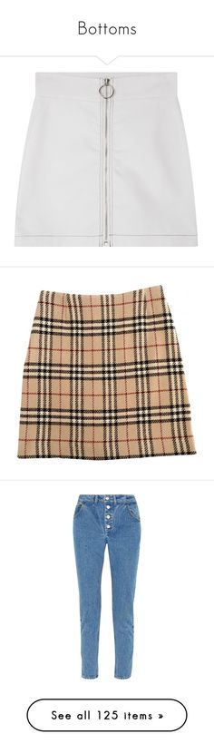 """""""Bottoms"""" by nazarahwiggins on Polyvore featuring skirts, mini skirts, high waisted mini skirt, short mini skirts, mid thigh skirts, holiday skirts, zipper mini skirt, bottoms, saias and burberry"""