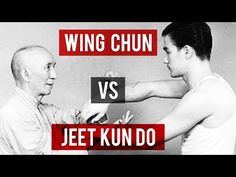 Bruce Lee's original art (Wing Chun) and the art he developed (Jeet Kune Do) are compared by Sifu Dan. Includes stances and footwork, hand and leg techniques. Wing Chun Martial Arts, Self Defense Martial Arts, Chinese Martial Arts, Martial Arts Training, Mixed Martial Arts, Wing Chun Techniques, Kung Fu Techniques, Martial Arts Techniques, Self Defense Techniques