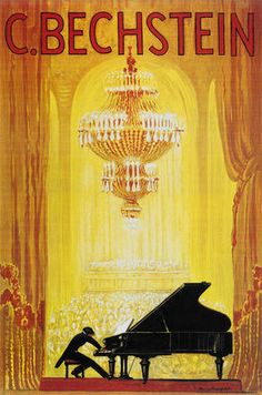 Piano- vintage art print poster- http://www.ebay.com/itm/Great-Vintage-Piano-Advertisement-Art-Print-Poster-C-Bechstein-/170806690721?pt=Art_Photo_Images=item27c4df43a1