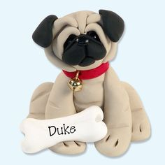 Meet Duke the Pug! Duke belongs to my niece Angela and her Mom Laura. He lives in Florida and has been added to my famous Puppy Pals