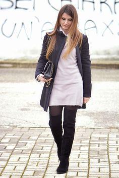The pink carpet fashion blog by Lucy Diegoli: Stivali overknee e maxi maglia