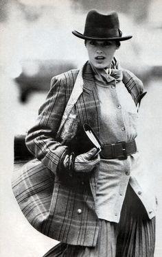Ursula Conzen, American Vogue, October 1987. Photograph by Gilles Bensimon.