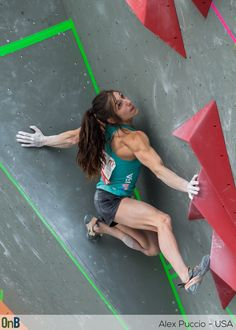 Alex Puccio during the 2014 Bouldering World Championships in Munich. My absolute favorite :D I'd love to be her best friend