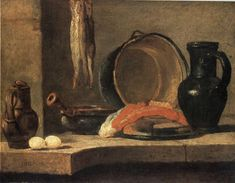 Bodegón con arenques de 1731 - Jean Siméon Chardin