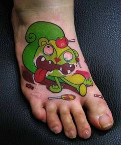 I wish I had one like that - Tattoo Ideas Central 3 Tattoo, Foot Tattoos, Body Art Tattoos, Tatoos, Happy Tree Friends, Sweet Tattoos, Friend Tattoos, Future Tattoos, Skin Art
