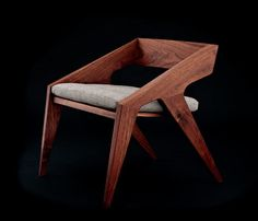 Furniture Ideas – 14 Modern Wood Chairs For Your Dining Room // The angular form of this dining chair gives it a contemporary look while the dark wood makes it feel timeless. Furniture Ideas – 14 Modern W Modern Wood Furniture, Outdoor Dining Furniture, Dining Room Chairs, Furniture Plans, Wood Chairs, Antique Furniture, Furniture Removal, Furniture Chairs, Dining Table