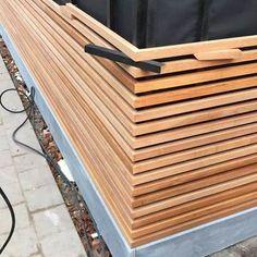 Offene fassförmig Mol (BE) fassade gartenhaus offene is part of House cladding - House Cladding, Timber Cladding, Wood Cladding Exterior, Decoration Restaurant, Wood Facade, Wood Railing, External Cladding, Pintura Exterior, Container House Design