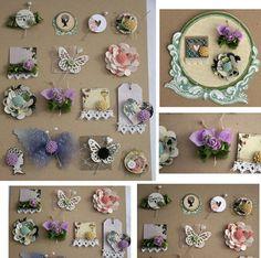 More of my handmade embellishments | Embellishments | Pinterest