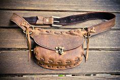 Wanderlust cuero cinturón con bolsillos por SevenBillionBuddhas