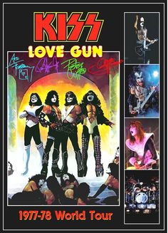 KISS Love Gun Group 1977-78 Tour Stand-Up Display