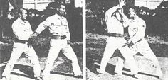 "Aiki-nage, from Kenji Tomiki's ""Taijutsu Kyotei"" - 1943. More from Tomiki Sensei on the Aikido Sangenkai blog.  ""Aikido Shihan Kenji Tomiki's Goshinjutsu"": http://www.aikidosangenkai.org/blog/aikido-shihan-kenji-tomiki-goshinjutsu/  ""Kenji Tomiki: Judo Taiso – a method of training Aiki no Jutsu through Judo principles"": http://www.aikidosangenkai.org/blog/judo-taiso-aiki-no-jutsu-kenji-tomiki/"