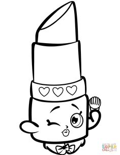 beauty lippy lips shopkin coloring page free printable coloring pages shopkins colouring book shopkins