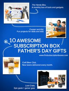 Check out these 10 Awesome Subscription Box Father's Day Gifts for Dads and finish your Father's Day shopping early! #findsubscriptionboxes