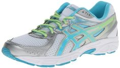 BUY NOW ASICS Women s Gel-Contend 2-D Running Shoe,White/Turquoise/Sharp Green,10.5 D US Ideal for low-mileage runs, this ASICS trainer provides stable cushioning and