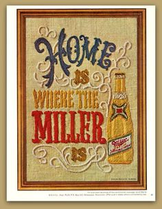 Miller Beer vintage magazine ad ephemera 1969 by catchingcanaries