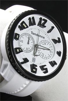 Tendence White/Black IPB Chronograph - Cool Watches from Watchismo.com