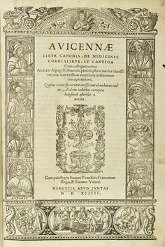 libraryblog.rcpsg.ac.uk Title page of Avicenna's Canon of Medicine, Venice, 1544