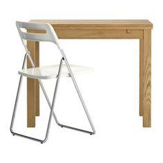 BJURSTA / NISSE Table et 1 chaise, plaqué chêne, blanc - IKEA